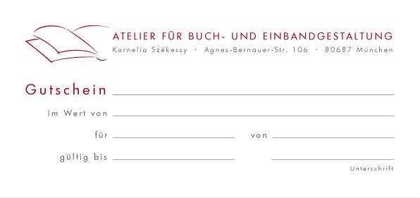 Buchbinderei Gutschein